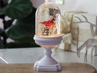 Lighted Cardinal Musical Snow Globe On Pedestal - 2429020-Gerson