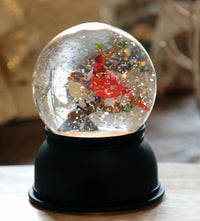 Lighted Cardinal Glitter Traditional Style Water Globe Battery Operated - 72028-Melrose
