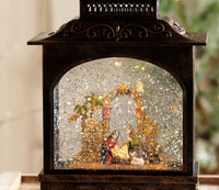 11 Inch Lighted Snow Globe Traditional Nativity Scene With Swirling Glitter - 3800796