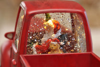 Santa In A Red Truck Spinning Water Lantern - 2498930 - NEW 2019-Gerson
