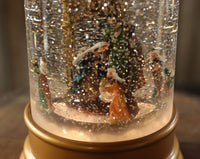 Animated Nativity Scene With Moving Figurines Lighted Water Lantern  - 2548320