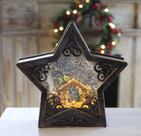 10 Inch Nativity Star Lighted Water Lantern with Swirling Glitter - MTX62335 - NEW 2019