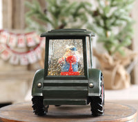 Farmer Santa In A Green Tractor Spinning Water Lantern - 2498920 - NEW 2019-Gerson