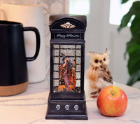 10 Inch Lighted Spinning Water Globe Halloween Witch Phone Booth With Timer - 2497610