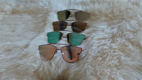 Emjay Cat Eye Mirror Sunglasses (5 Colors)