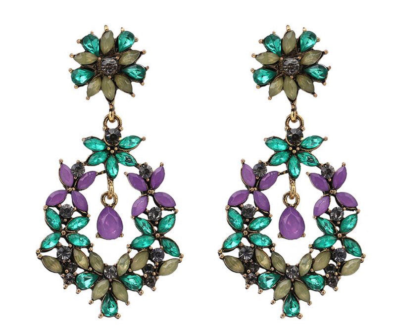 Maxi Crystal Colors Dangling Earrings