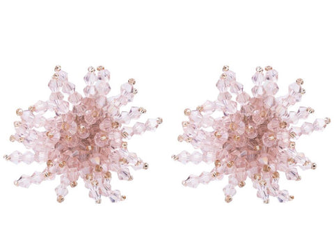 Bea Cluster Clear Bead Earrings