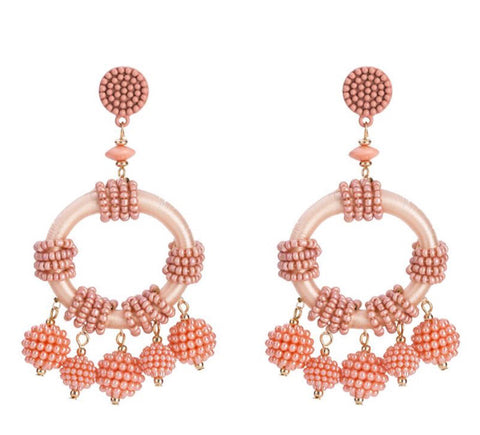 Ana Beads Drop Earrings (3 Colors)
