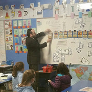 Rabbi Mollot's classroom with TorahLine Torah Lesson Plan