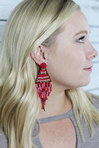 Chancey Earrings | Red