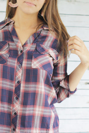 Ava Plaid Top
