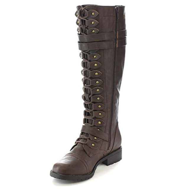 Fashion Damens Lace Up Up Lace Riding Stiefel f8a69a