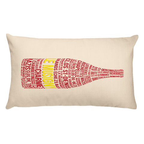 Le Musigny Decorative Burgundy Wine Throw Pillow - Grape Obsession