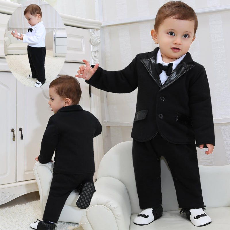 3f3d2ff91552 2018 New Born Baby Clothes Gentleman Boys Clothes Black Suit Coat+ ...