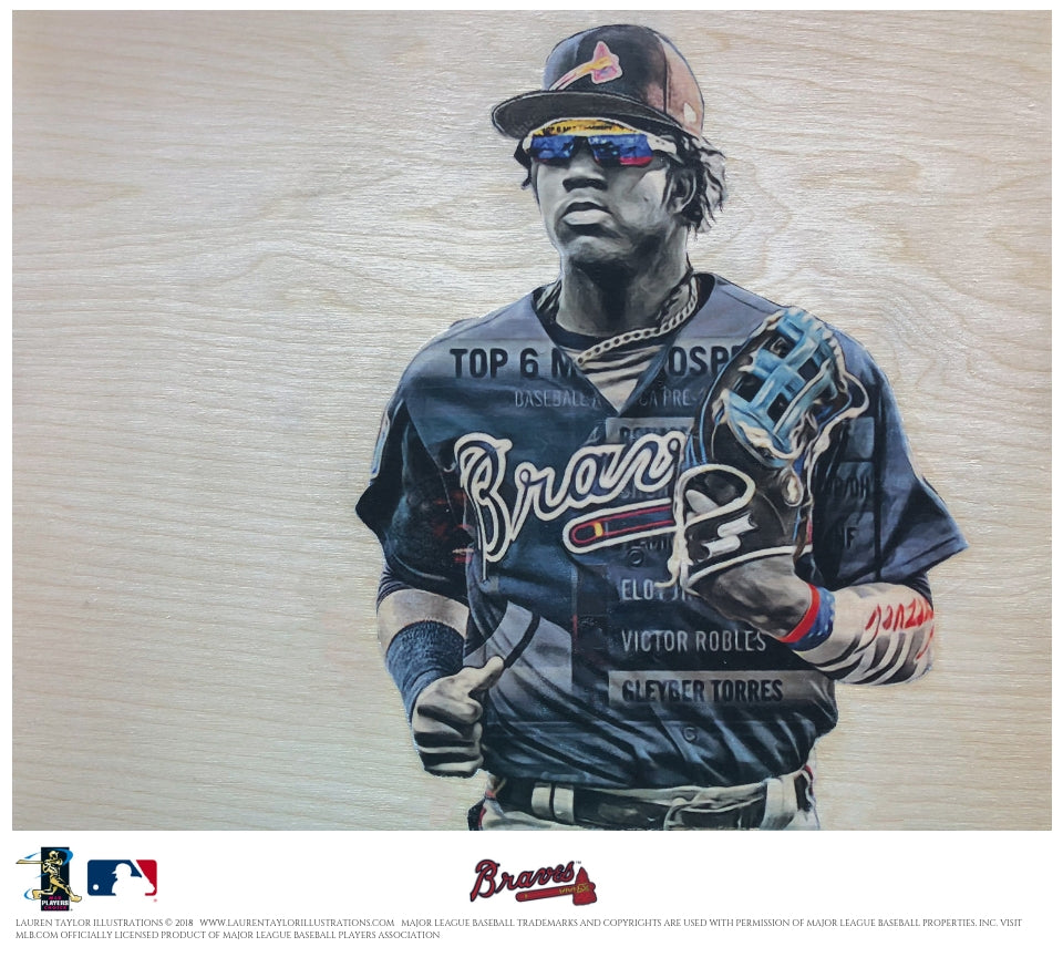 """Acuna"" - Officially Licensed MLB Print"