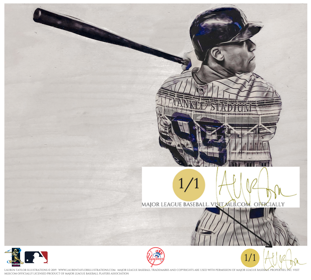 """99"" (Aaron Judge) New York Yankees - Officially Licensed MLB Print - GOLD ARTIST SIGNATURE Limited Release /1"