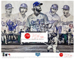 """Seven"" (Los Angeles Dodgers) 2020 World Series Champions - Officially Licensed MLB Print - Commemorative RED SIGNATURE Limited Release /50"