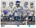 """Seven"" (Los Angeles Dodgers) 2020 World Series Champions - Officially Licensed MLB Print - Commemorative TEAL SIGNATURE Limited Release /10"