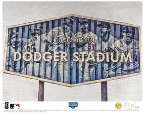 """Dodger Blue"" (Los Angeles Dodgers) 2020 World Series Champions - Officially Licensed MLB Print - Commemorative GOLD SIGNATURE Limited Release /1"