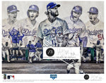 """Seven"" (Los Angeles Dodgers) 2020 World Series Champions - Officially Licensed MLB Print - Commemorative BLACK w/SILVER SIGNATURE Limited Release /3"