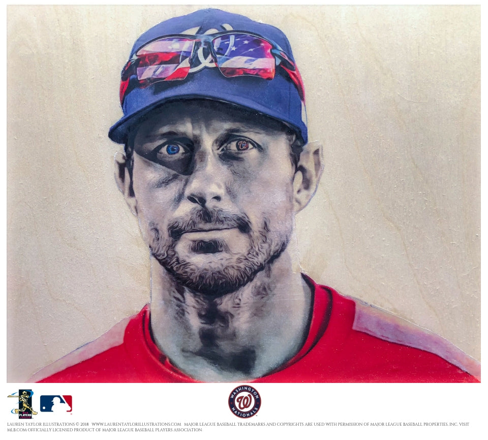 """Scherzer"" - Officially Licensed MLB Print"