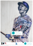 """C-Seag"" (Corey Seager) Los Angeles Dodgers - Officially Licensed MLB Print - TEAL SIGNATURE LIMITED RELEASE /20"