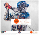"""Polar Bear"" (Pete Alonso) New York Mets - Officially Licensed MLB Print - ORANGE ARTIST SIGNATURE Limited Release /15"