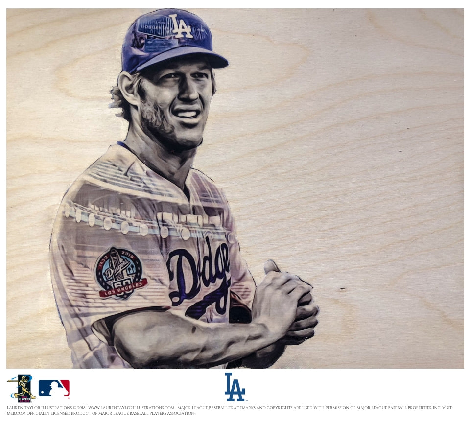 """Kershaw"" (Clayton Kershaw) - Officially Licensed MLB Print"