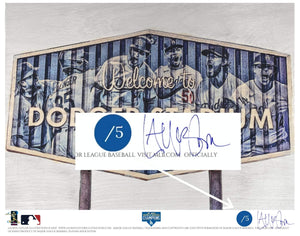 """Dodger Blue"" (Los Angeles Dodgers) 2020 World Series Champions - Officially Licensed MLB Print - Commemorative BLUE SIGNATURE Limited Release /5"