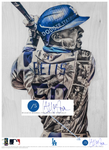 """Welcome to LA"" (Mookie Betts) Los Angeles Dodgers - Officially Licensed MLB Print - BLUE SIGNATURE LIMITED RELEASE /5"