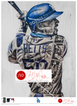 """Welcome to LA"" (Mookie Betts) Los Angeles Dodgers - Officially Licensed MLB Print - RED SIGNATURE LIMITED RELEASE /10"