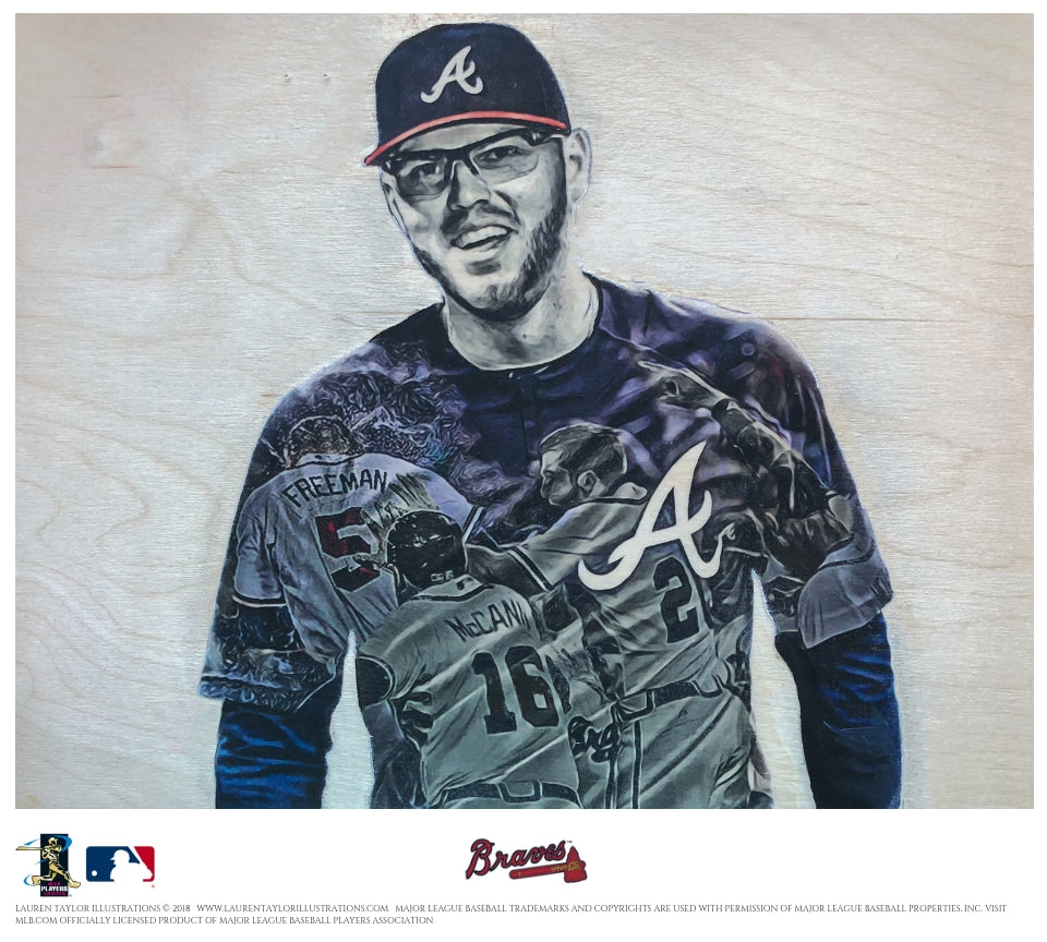 """Freeman"" - Officially Licensed MLB Print"
