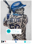 """Welcome to LA"" (Mookie Betts) Los Angeles Dodgers - Officially Licensed MLB Print - TEAL SIGNATURE LIMITED RELEASE /20"