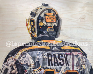 """Bruins Keepers"" (Tukka Rask, Cheevers, Thomas) - Boston Bruins Limited Run /25 Print"