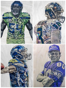 Seahawks Fan Gift Pack! - NFL Football (Wilson, Lockett, Wagner, Largent)