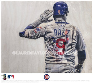 """El Mago"" (Javy Baez) - Officially Licensed MLB Print - Limited Release"