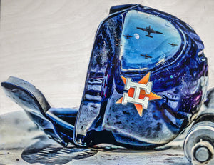 """H-Town"" (Houston Astros) 1/1 Original on Wood"