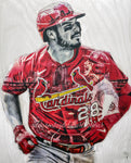 """Welcome Home"" (Nolan Arenado) St. Louis Cardinals - 1/1 Original on Wood"