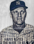 """Maris"" (Roger Maris) New York Yankees - 1/1 Original on Birchwood"