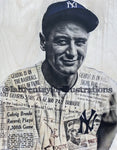 """Iron Horse"" (Lou Gehrig) New York Yankees - 1/1 Original on Birchwood"