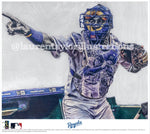 """Salvy"" (Salvador Perez) Kansas City Royals - Officially Licensed MLB Print - Limited Release"