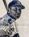 """Commerce Comet"" (Mickey Mantle) New York Yankees - 1/1 Original on Birchwood"
