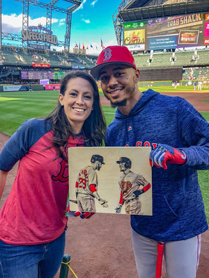"""JD and Mookie"" - Officially Licensed MLB Print - Limited Release"