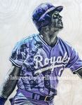 """Mullet"" (George Brett) Kansas City Royals - 1/1 Original on Wood"