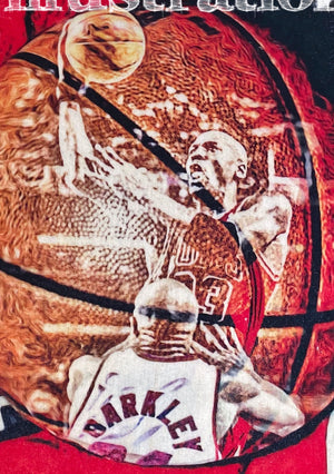 """1993"" (Michael Jordan) Chicago Bulls - 1/1 ORIGINAL on Birchwood"