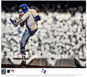 """The Ryan Express"" (Nolan Ryan) Texas Rangers - Officially Licensed MLB Cooperstown Collection Print - Limited Release"