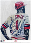 """The Wizard"" (Ozzie Smith) St. Louis Cardinals - Officially Licensed MLB Cooperstown Collection Print - Limited Release"