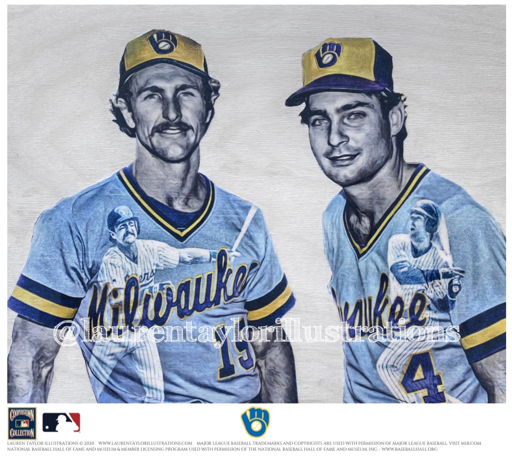 """Harvey's Wallbangers"" (Robin Yount & Paul Molitor) Milwaukee Brewers - Officially Licensed MLB Cooperstown Collection Print - Limited Release"