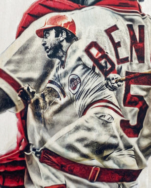"""Little General"" (Johnny Bench) Cincinnati Reds - Officially Licensed MLB Cooperstown Collection Print - Limited Release"