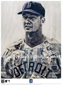 """Mr. Tiger"" (Al Kaline) Detroit Tigers - Officially Licensed MLB Cooperstown Collection Print - Limited Release"